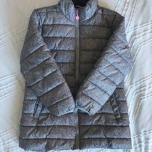H&M Puffer Coat/Parka - Gray & Pink 5-6 yrs